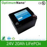 Bateria de íon de lítio de ciclo profundo 24V 20AH e de scooter/ portagem Médicos/ Robô eléctrico