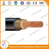 Дло тепловоза кабеля 1 AWG, 2000V гибкий луженый медный провод заземления