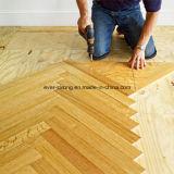 ヘリンボン寄木細工の床床の設計された木製のフロアーリング