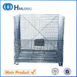 Recipientes galvanizados industriais do engranzamento de fio para o armazenamento