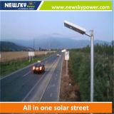 15W--160W太陽電池パネル、コントローラおよび電池が付いている太陽街灯