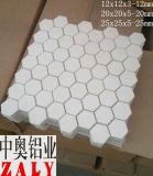 mattonelle di ceramica di esagono dell'allumina Al2O3 di 92% 95%
