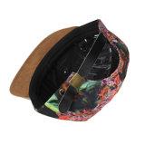 Sombrero de encargo del panel del tinte 5 del lazo de la corrección del cuero del borde del ante