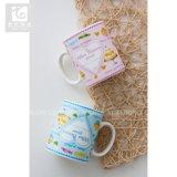 Taza de cerámica llena modificada para requisitos particulares fábrica del té de la impresión 12oz de la etiqueta de China