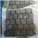 Landscape庭またはDrivewayのための自然なSurface Meshed Black Basalt Paving Stone