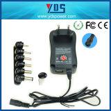 EU wir BRITISCHE Stecker 30W manuelle Universal-Spannungs-Adapter-Aufladeeinheit Wechselstrom-3V~12V mit Kanal USB-5V