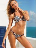 Женщин напечатанных купальный костюм Бикини треугольника 2PCS леопардом сексуальный