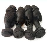 卸売100%の人間の毛髪の巻き毛のバージンの自然なブラジルの毛