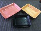 Conteneur fait sur commande de plateau de nourriture de mousse de polystyrène du conditionnement de la viande de taille et de couleur ENV