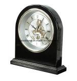 Reloj esquelético del arco del piano del escritorio negro del final