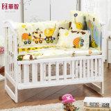 詮策好きの青い印刷の赤ん坊の寝具セット
