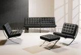 Presidenza di cuoio del sofà di Genunie Barcellona di vendita del nero caldo dell'ufficio