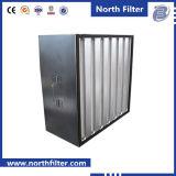 H13 Стекловолокно V-Банк компактный фильтр выходящего воздуха HEPA