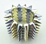 Estilo de Punk gótico Spike Rebites Bracelete/ The Hedgehog 5 Estrelas Stretch Bangle de Linha