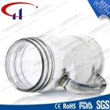 cuvette de maçon en verre de silex 380ml avec la main (CHM8116)