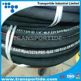 In China einen Schicht-Stahldraht-umsponnenen hydraulischen Gummischlauch hergestellt