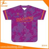 Camice in bianco a buon mercato all'ingrosso della Jersey di baseball di softball delle donne di Healong
