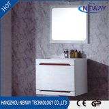 Module de salle de bains blanc en gros de PVC moderne avec le miroir