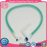 Circuito de respiração ondulado descartável para cirúrgico médico