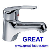 Faucet de lavatório com lavatório único de design clássico