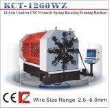 Wz Camless Kcmco-Kct-1260versátil CNC 6 mm de fio máquina de formação rotativas&Tensão/máquina de fazer da Mola de Torção