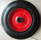 Roda de borracha sólida de aro de plástico ou aço (10 polegadas)