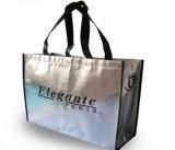 Sacchetti di acquisto non tessuti stampati colore nero per gli indumenti (FLN-9064)
