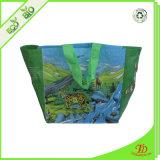 Aufbereitete Einkaufstasche des Tote-Beutel-RPET mit farbenreichem Drucken