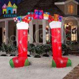 Publicidade Natal Inflável Gift Box Arch Anúncio