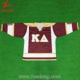 Hockey sobre hielo por completo sublimado de la práctica de la ropa de deportes de la promoción de Healong Jersey
