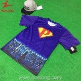 Healong Wholesale Custom Quality coton sérigraphie Polo T-shirt pour hommes de cou rond