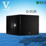 Q-sub Enige 18inch PROdieSubwoofer als Systeem van de Spreker van DJ wordt gebruikt
