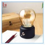 Mini Retro LED-nachladbares Nachtlicht-kleine Schreibtischbirne Lampe