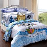 柔らかい3Dはホームのためにセットされた羽毛布団カバーシーツの寝具を印刷した