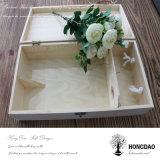 Rectángulo de madera de Hongdao, rectángulo de madera de calidad superior del vino con el vino Glass_D