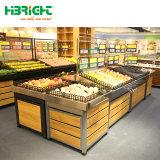 Het houten Fruit van de Opslag van de Supermarkt en Plantaardige Plank