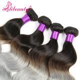El pelo de Remy del color de Ombre de la alta calidad teje el pelo humano camboyano