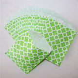 Verde con rayas ecológicas bolsas de papel de la flor de fiesta
