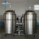 Nuova pianta del macchinario della fabbrica di birra della birra di prezzi di fabbrica micro 500L con 2 imbarcazioni con il PLC con le coperture di rame facoltative