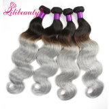 高品質のOmbreカラーRemyの毛はカンボジアの人間の毛髪を編む