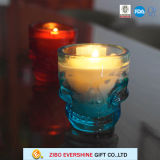 卸し売り熱い販売の頭骨のガラス蝋燭ホールダー