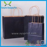 Пользовательские Коричневый Крафт бумага хозяйственная сумка с логотипом печати мешок подарка