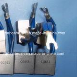 A escova de carbono do metal da fabricação para o motor parte CG651
