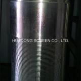 Elemento de filtro do elemento de filtro do filamento da cunha do equipamento do filtro do tratamento de água de esgoto/aço inoxidável