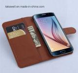 Couverture en gros de caisse de cuir de chiquenaude de modèle de livre de la Chine pour le cas de téléphone portable de la galaxie S5 de Samsung
