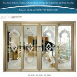 Aluminiuminnentür-Außentüren, die Tür-Schiebetüren hängen