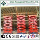 Mantenimiento de equipos y construcción del lugar utilizando la plataforma de elevación