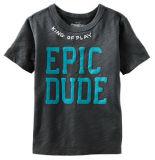 100% Polyester V-décolleté avec garniture de maillage d'enfants T-Shirt