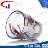 230mlは卸し売りする花(CHM8074)が付いているガラス水マグを