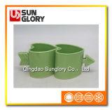 Inner-geformter Porzellan-Becher mit Kunst-Cup-Griff von Qlb025